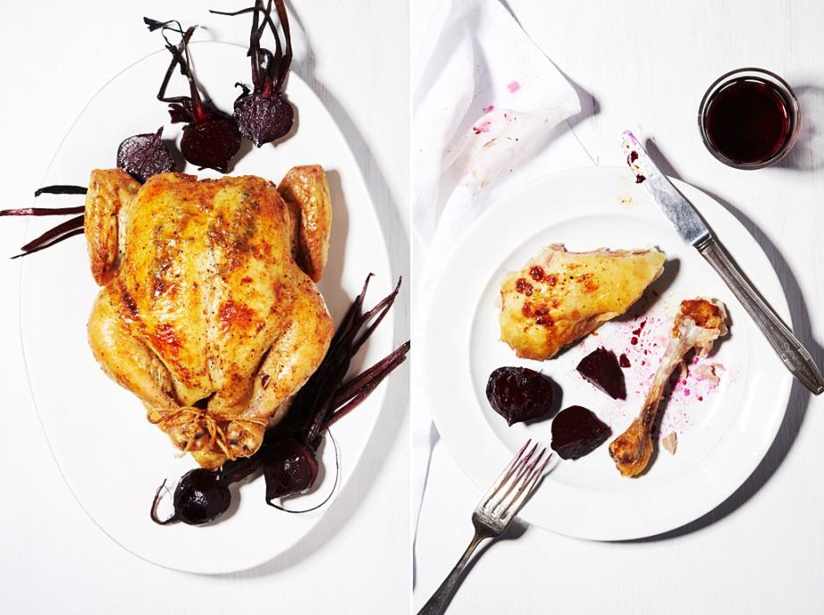 Roast Chicken & Beets