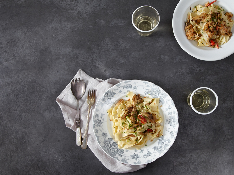 Tagliatelle with Lobster & Mushrooms
